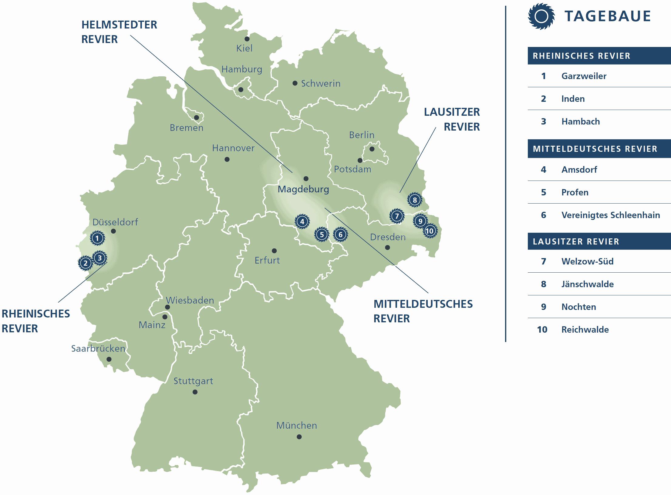 braunkohlegebiete in deutschland karte Übersicht und Geschichte der Reviere   DEBRIV Bundesverband Braunkohle